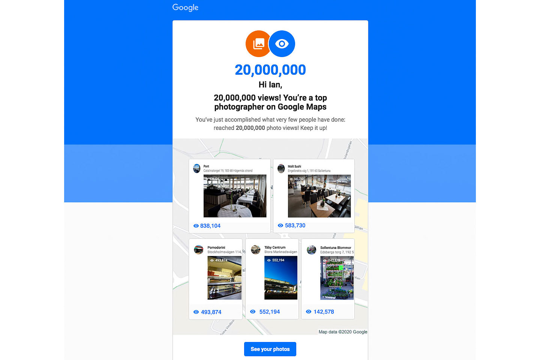 Fotografering för Google street view Fotograf
